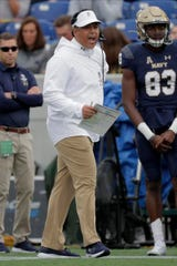 Navy coach Ken Niumatalolo, on the job since 2007, is 4-8 in the rivalry with Notre Dame.