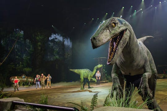 Jurassic World Live will be performed this weekend at Little Caesars Arena.