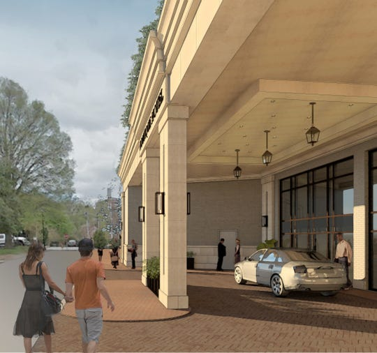 This rendering from Interior Image Group reveals how the Shepherd Hotel will look once it opens in the Summer of 2021. The hotel will be a five-story boutique hotel in the heart of downtown Clemson.