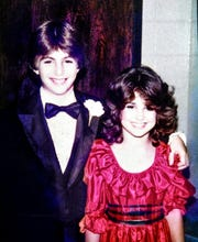 Dabo Swinney (seventh grade) and Kathleen Bassett (sixth) as childhood friends at a middle school dance in Alabama.
