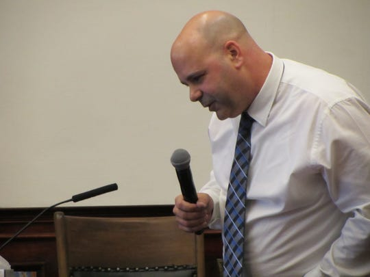 Defendant Brandon Lee Craft's former father-in-law reads a letter from Craft he received while Craft was in jail. Craft's trial for the homicide of Adam Petzack will continue through early next week.