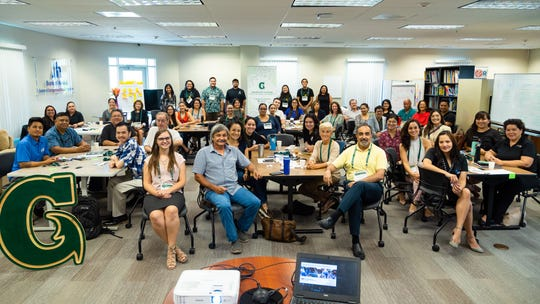 Presenters from Arizona State University gave a workshop in August at UOG on transitioning to a circular economy that brought together 50 participants from corporations, small businesses, nonprofits, and government agencies. The workshop was possible through UOG's partnership with ASU and subsequent membership in the Global Consortium for Sustainability Outcomes network.