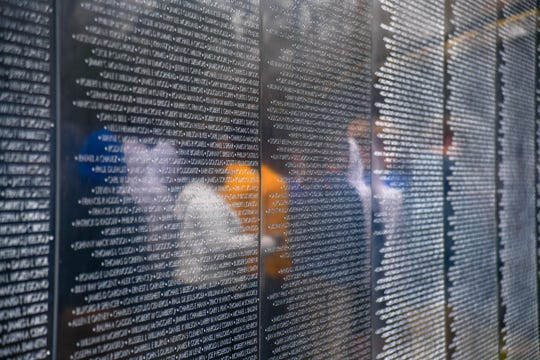 More than 58,000 names are listed on The Wall That Heals of those who died during the Vietnam War.