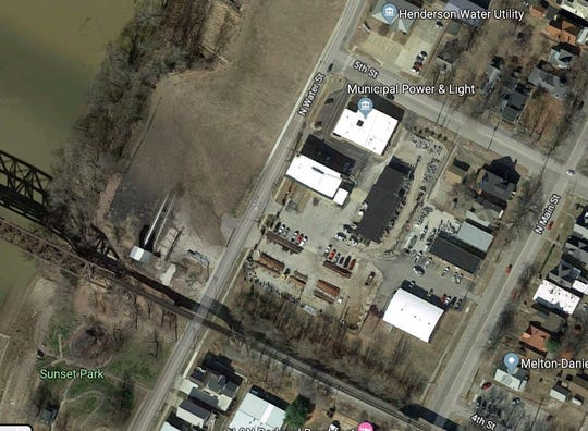 A view of Henderson Municipal Power & Light's campus as seen from Google Maps.