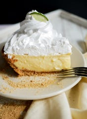 Key lime pie at Shapiro's Deli in Indianapolis.
