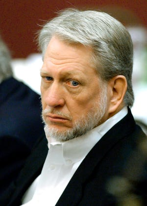 In this April 5, 2002, file photo, WorldCom Inc., CEO Bernard Ebbers is shown in Jackson, Miss. Ebbers, a former telecommunications executive, was convicted in one of the largest corporate accounting scandals in U.S. history and is asking a judge to shorten his prison sentence so he could be released as his health deteriorates.