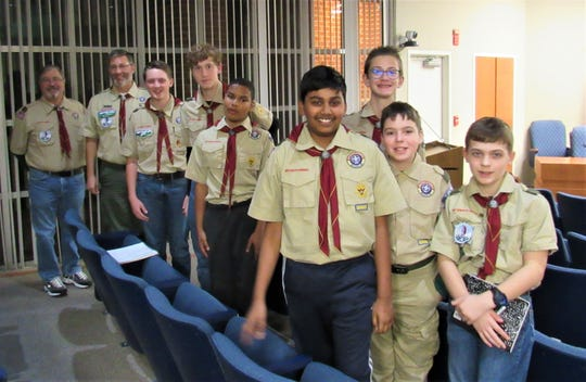 Boy Scout Troop 444 attended the BOMA meeting on Nov. 14 to see how local government works and earn a Citizen in the Community badge.