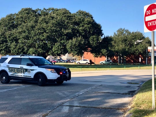 Lafayette High School was on lockdown early Friday, Nov. 15, with law enforcement on campus investigating and blocking entrances.