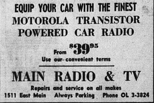 An ad in the October 18, 1961 Lancaster Eagle-Gazette