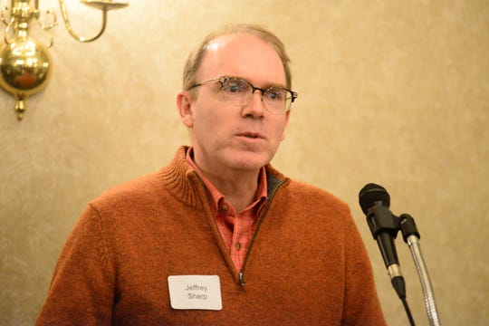 Jeffrey Sharp, director of the School of Environment and Natural Resources at The Ohio State University, spoke of the department's collaboration with OSU's Mansfield campus on Thursday.