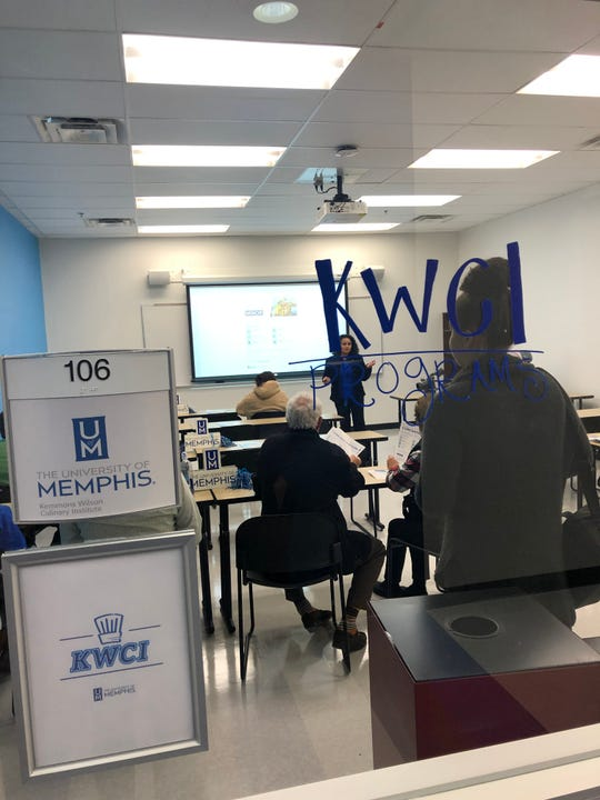 A classroom at the new University of Memphis Kemmons Wilson Institute Culinary Institute.