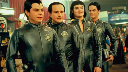 """Memphis/Germantown actress Missi Pyle (second from right, if you can't tell) is among the stars who made """"Galaxy Quest"""" memorable. The sci-fi comedy is celebrated in """"Never Surrender: A Galaxy Quest Documentary,"""" which will screen Tuesday."""