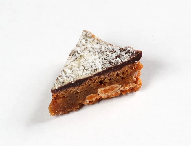 Snowy Road Bars are sweet little chewy diamonds with caramel, chocolate and malt flavors all in one.