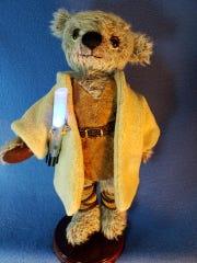 Amy Thornton of New Berlin designed and created a 'Star Wars' Skywalker teddy bear for Kaden's Wish, a fundraiser on Nov. 16 at Champps Brookfield. The teddy bear artist felt inspired by Kaden Stark's story.