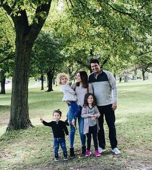 Lisa Boettcher, founder of Prim & Clove, and her husband Mark have three children: Maven, 5, Sylvie, 4, and Rush, 2.
