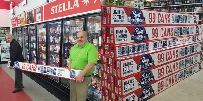The Pabst 99 packs are coming to Milwaukee but not for sale.