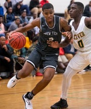 BrewTech's Justin Johnson (2) against Carver's Jalen Walton (0) at the Carver campus in Montgomery on Thursday November 14, 2019.
