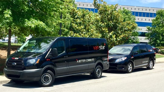 VanStar transportation vehicles provide flexible public transportation for commuters.