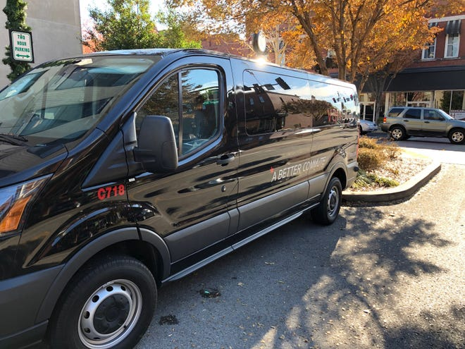 A 14-passenger VanStar van is an option for commuters headed to similar locations.