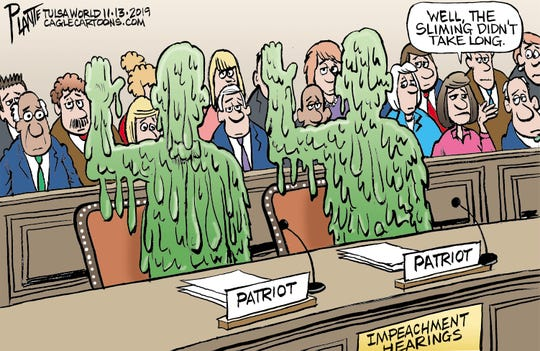 Trump impeachment hearings sliming.