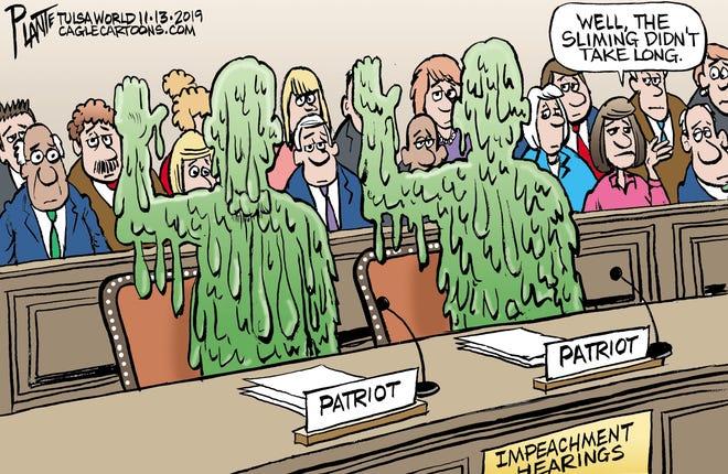 Trump impeachment hearings sliming.