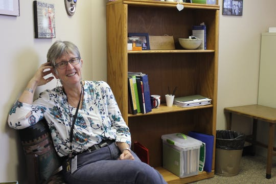 Su Hodgman sits in her office inside the San Juan County Water Commission building on East Main Street in Farmington.