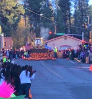 Hundreds of pumpkins begin to roll down Eagle Drive in a first-time event as part of Ruidoso's Halloween celebration that closed midtown to all but pedestrian traffic.