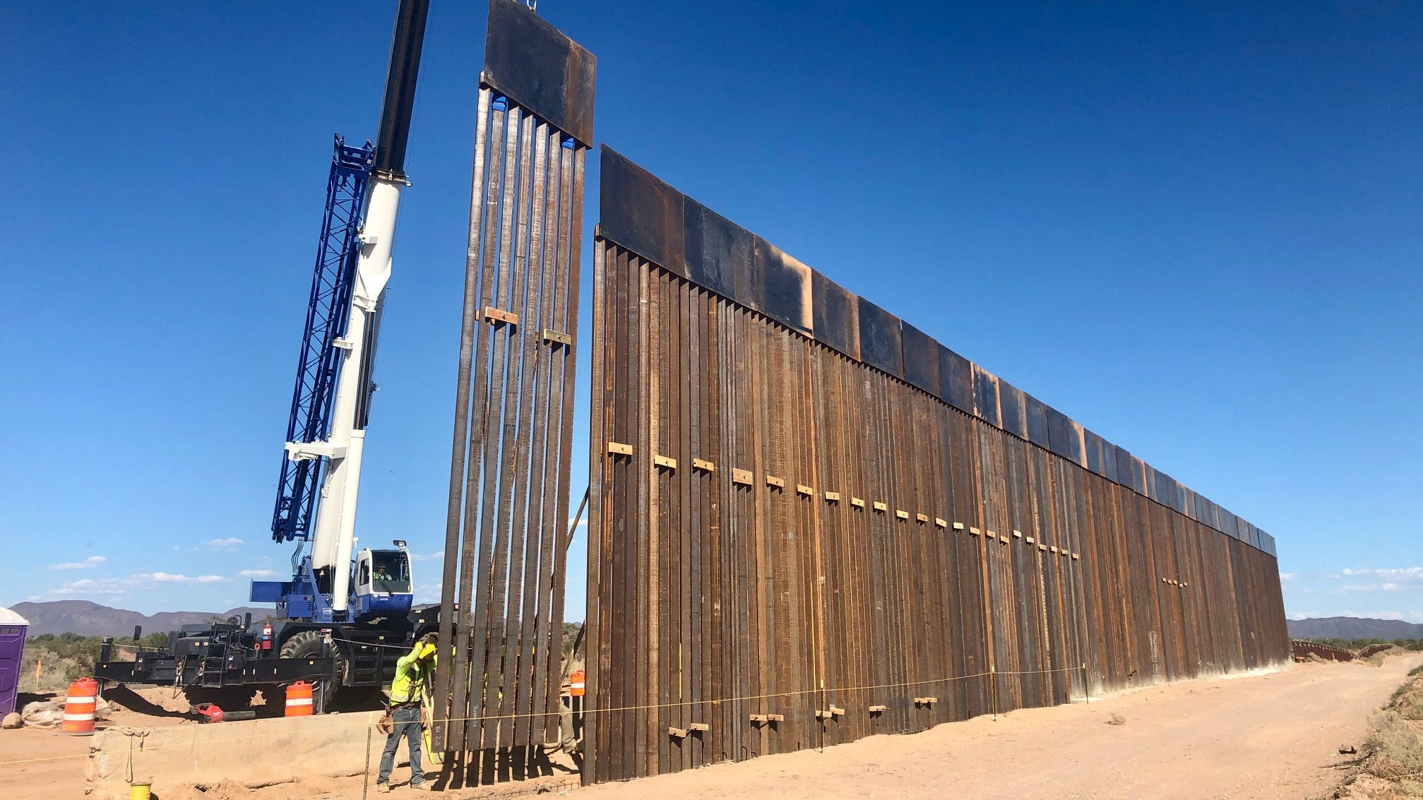 2 O'odham activists arrested after blocking border wall construction in southern Arizona