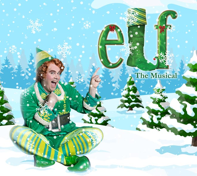A poster for 'Elf the Musical.'