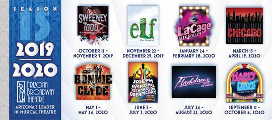 The 2019-20 schedule for the Arizona Broadway Theatre.
