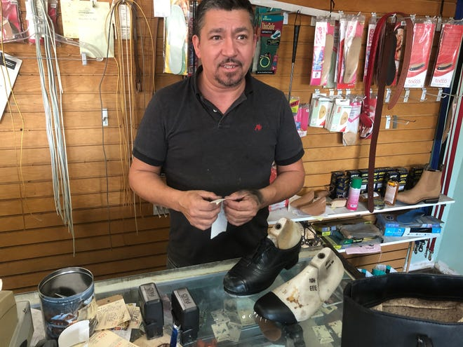 Robert of Robert's Shoe Repair in Tempe  had to hear all about my tap dance group's upcoming performance when I took in my tap shoes for repair.