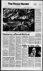 Robert Odle is pictured in a May 18, 1973 Times Herald frontpage.