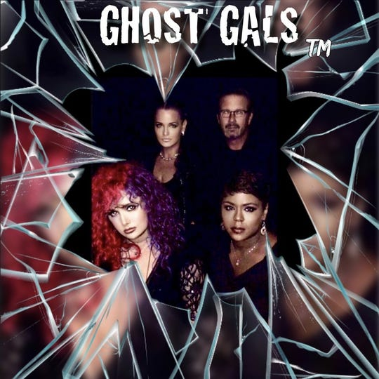 The Ghost Gals includes (clockwise from top left), Brigid Goode, Robert Eyler, Jenny Thomas and Tracy Wilson.