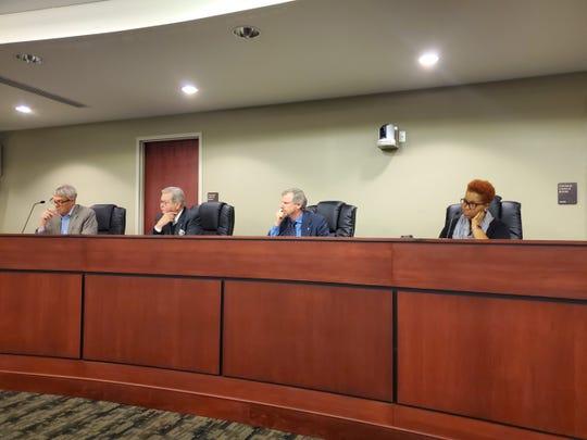 York City on Thursday, Nov. 14, wrapped up its draft budget hearings. From left: York City Councilman Michael Buckingham, City Council President Henry Nixon, Mayor Michael Helfrich and City Councilwoman Edquina Washington.