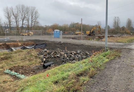 The construction site at 4910 Turner Road SE, at the corner of Kuebler and Turner.