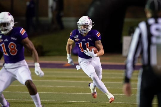 Tanner Ash (11) and Northwestern State face Sam Houston State, one of four teams tied atop the Southland Conference standings, at 12:05 p.m. Saturday.