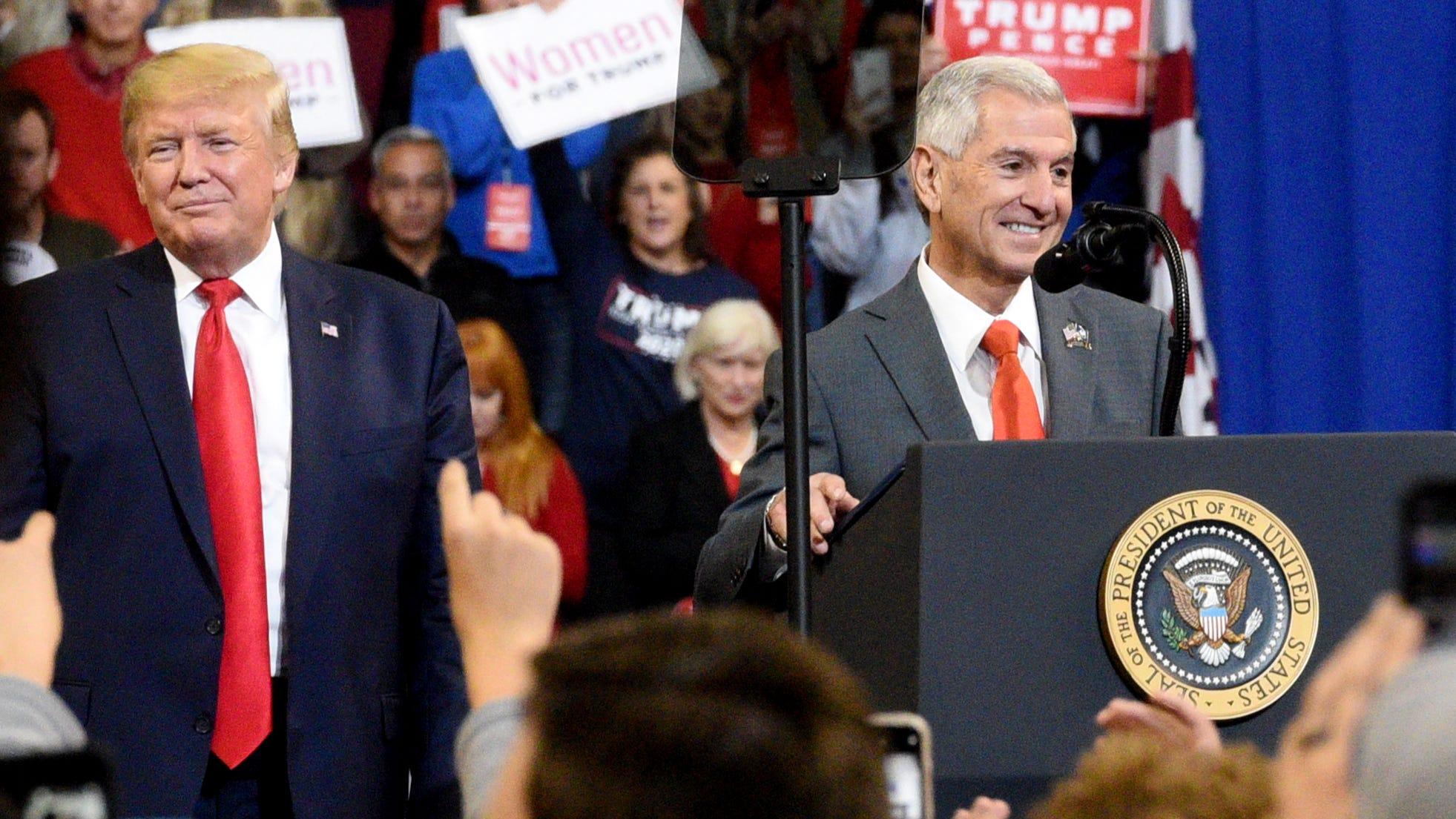 Trump stumps for Eddie Rispone for Louisiana governor