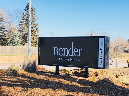 Bender Companies sign