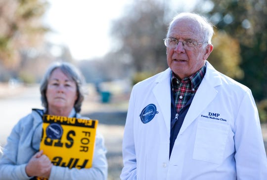 Dr. John Mihalevich, a retired internist, talks about why it's important to  expand Medicaid in Missouri before canvassing a neighborhood on Friday, Nov. 15, 2019.