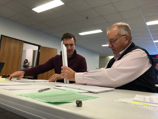Audit teams composed of one Republican and one Democrat each pored over 50 ballots cast in the November sales tax elections Thursday. That was enough to allow a computer to assess the accuracy of the results.