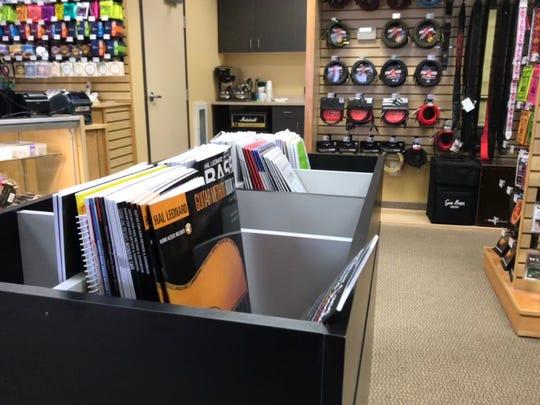 Sheet music is on display in Barrett's Music in St. Joseph on Wednesday, Nov. 13, 2019