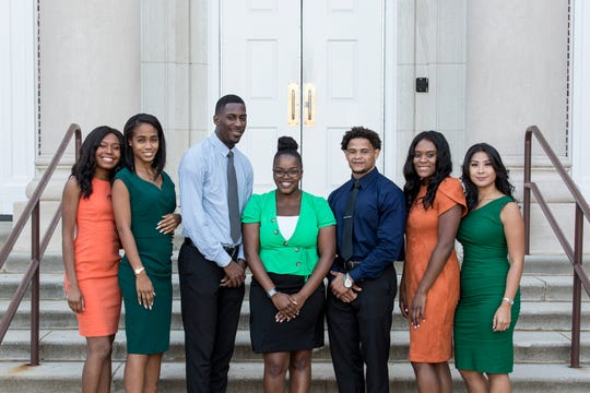 FAMU TV 20 Homecoming team (L-R): Raiyana Malone, Ruelle Fludd, Avery Jacobs, Sherneka Streater, Stanley Danzey, Vanessa Lawrence and TiffanyBui.