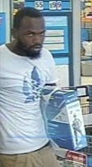 The Indian River County Sheriff's Office asked for the public's help in locating an individual who used a stolen credit card from an auto burglary. The man in the posted photographs used the stolen credit card on Saturday, October 19, 2019.