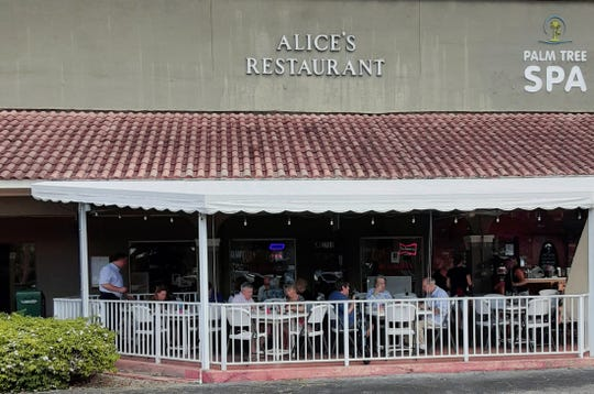 Alice's Family Restaurant features indoor and outdoor seating. The comfortable outdoor patio, pictured here, offers sunshades and plenty of fans to keep customers cool while dining al fresco. The eatery is at 2781 E. Ocean Blvd., Stuart.