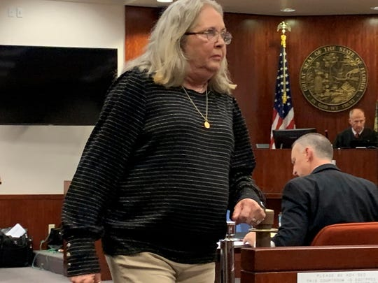 Michael Jones' aunt Glynda Jones, of Georgia, testified on his behalf at the Indian River County Courthouse Nov. 15, 2019 during the convicted killer's penalty phase.