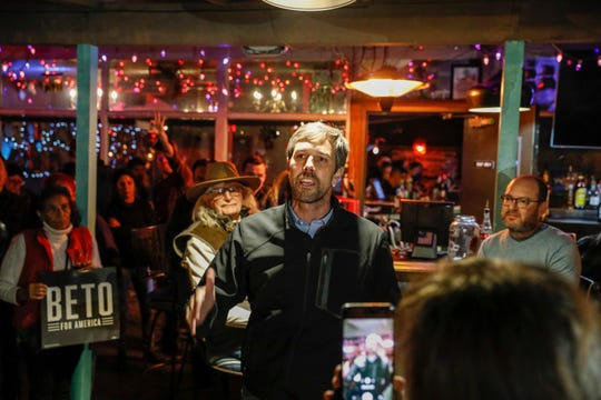 Supporters thanked Beto O'Rourke, a former Democratic Presidential candidate and native El Pasoan, during at Hope and Anchor on Thursday night.
