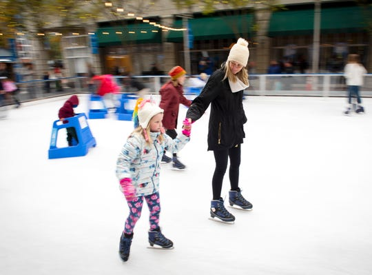 Ice on Main, sponsored by United Community Bank, officially opened for the 2019-2020 season on Friday, November 15, 2019 at the Village Green in front of the Courtyard Marriott in downtown Greenville. The ceremony included performances by the St. Anthony's Children's Choir and the Greenville Figure Skating Club.