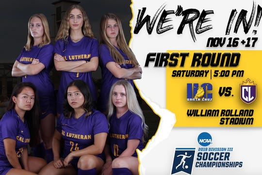 The Cal Lutheran women's soccer team hosts NCAA Division III tournament matches on Friday and Saturday at Rolland Stadium.