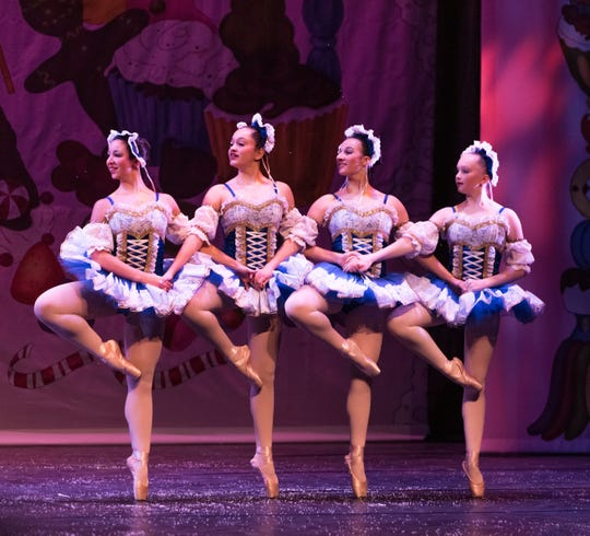 "Vineland Regional Dance Company will present ""The Nutcracker Ballet"" at 1 and 5 p.m. Dec. 14 and 2 p.m. Dec. 15 in the Frank Guaracini Jr. Fine & Performing Arts Center on the Cumberland campus of Rowan College of South Jersey at 3322 College Drive in Vineland. Melissa Carabrese, Carly Cullinane, Isabella Hill and Lindsey Wettstein are pictured."