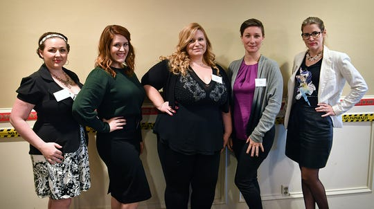 The upcoming Dancing for the Stars event in February will include couples as well as groups like Amy Vail, left, Nicole Rhoads, instructor Crystal Snider, Kandyce Peveto and tarah Nyberg. The event is a major fundraiser for Big Brothers Big Sisters and the Small Business development Center at Midwestern State University.
